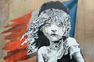 """Banksys-""""Supporting Calais"""", www.widewalls.ch"""