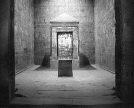 The sacred shrine of the god Horus in the Holy of Holies at Behkdet
