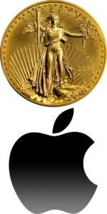 investment AE Coin AAPL Vert